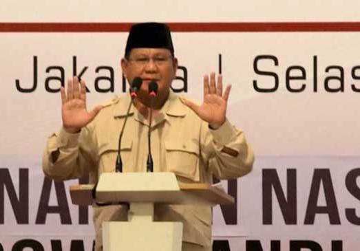Prabowo Subianto. (foto:ist)