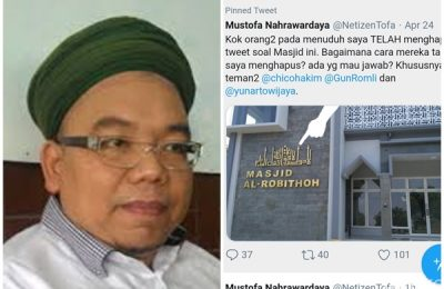 Direktorat Tindak Pidana Siber Bareskrim Polri meringkus terduga penyebar hoax, ujaran kebencian berdasarkan SARA, Mustofa Nahrawardaya Minggu (26/5) pagi