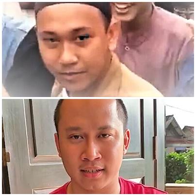 Wajah pengancam Jokowi (foto atas) Wajah Dheva pemuda intelek asal Kebumen