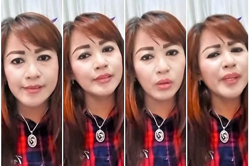 Berbagai ekpresi wajah Dewi Tanjung ketika sedang marah