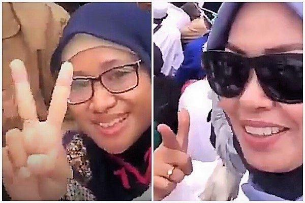 Dua perempuan yang ada di dalam video ancaman penggal kepala Presiden Jokowi ditangkap polisi, Rabu (15/5)