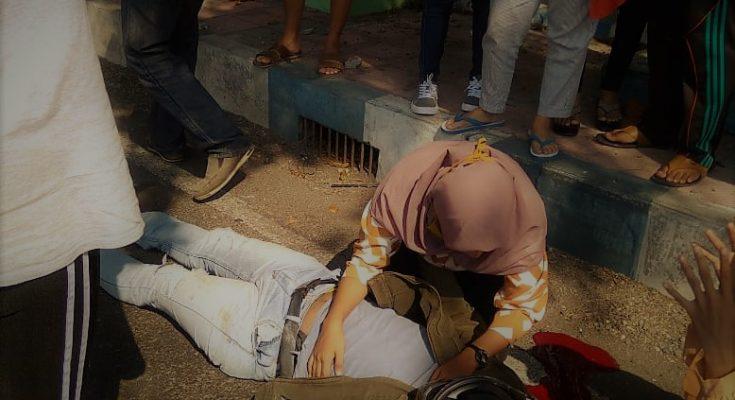 Korban tewas dilokasi kejadian. (foto:fat)