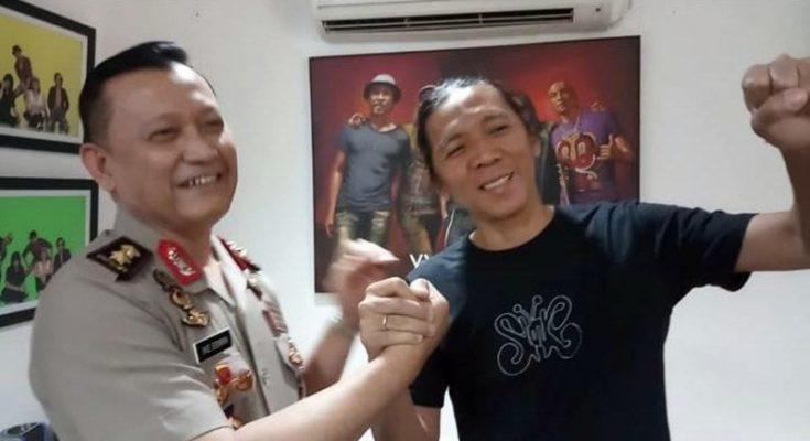 Irjen Pol. Ike Edwin saat bertemu Bimbim dan Bunda Iffet di Markas Slankers, Gang Potelot, Duren Tiga, Jakarta Selatan, Rabu (3/7/2019). (Ist)
