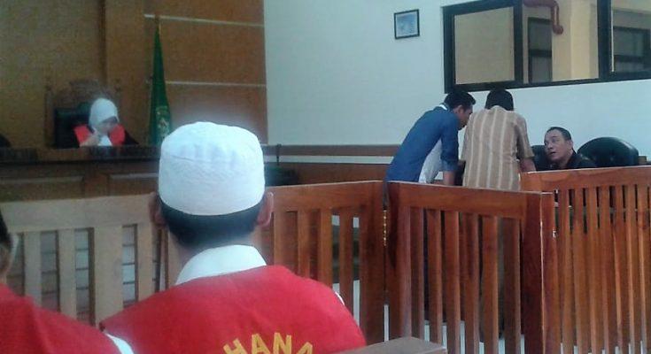 Suasana sidang kasur narkotika di Pengadilan Negeri Depok. (foto:ltf)