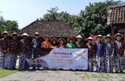 Rombongan All China Journalist Association (AJCA) saat mengunjungi Candi Prambanan, Yogyakarta. (Ist)