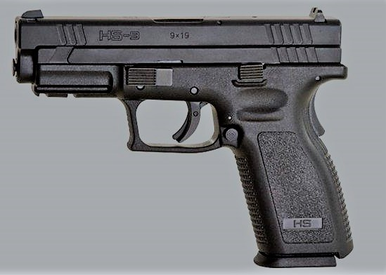 Senjata api jenis HS-9. (foto:ist)