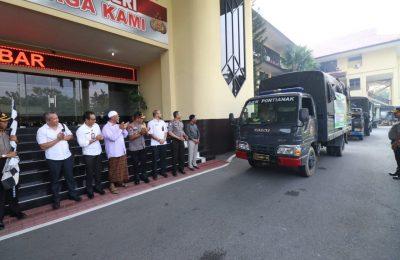 Kapolda Kalbar kirim pendistribusian padi. (foto:das)