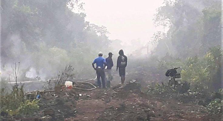 Asap yang ditimbulkan akibat kebakaran hutan di Kalbar. (foto:ist)