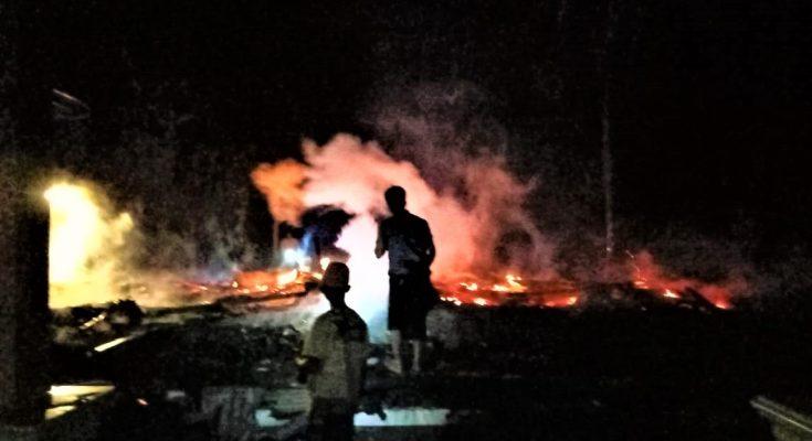 BPBD Situbondo imbau warga waspada bahaya Kebakaran di musim kemarau. (foto:fat)