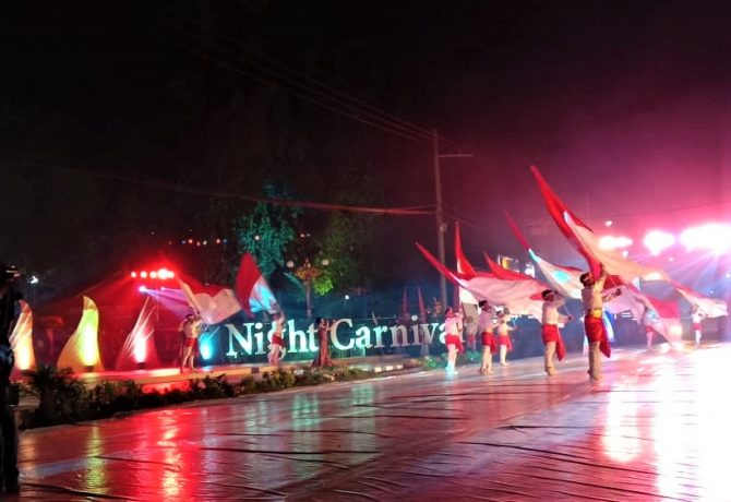 Salah satu peserta Jatim Specta Night Carnival. (foto:fat)