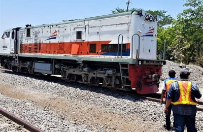 uji beban jalur rel baru dilakukan  lintas antara Stasiun Babadan sampai Stasiun Geneng