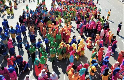 memperingati Hari Jadi (Harjad) Kota Pontianak, pakaian adat khas Melayu Pontianak, telok belanga dan baju kurung menjadi tradisi dikenakan oleh warga di Pontianak. (foto:das)