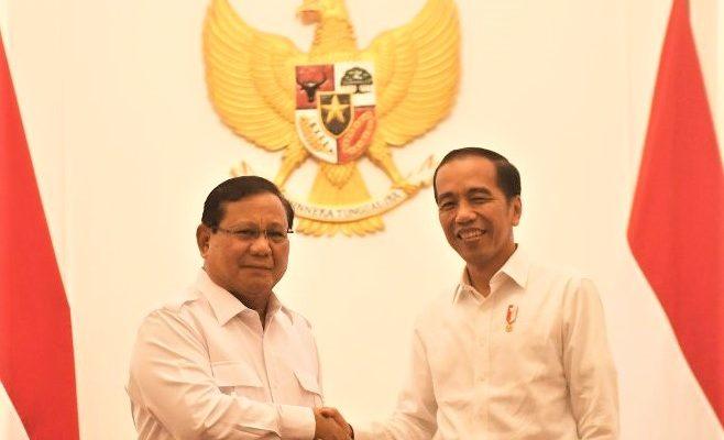 Ketua Umum Partai Gerindra Prabowo Subianto bertemu dengan Presiden Jokowi di Istana. (foto:ist)