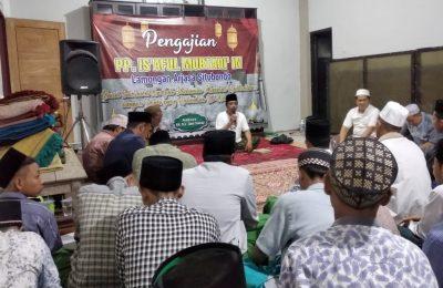 Ketua PCNU KH Zaini Sonhaji, saat memberikan tausiah. (foto:fat)