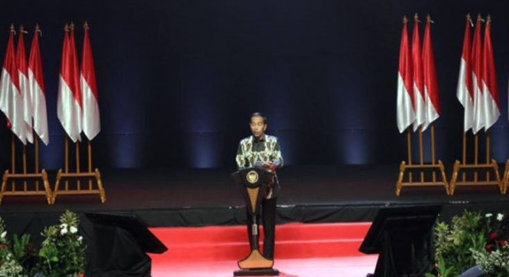 Presiden Joko Widodo saat membuka Rakornas Indonesia Maju Pemerintah Pusat dan Forkopimda di Sentul International Convention Center (SICC), Bogor, Jawa Barat, Rabu (13/11/2019). (Ist)