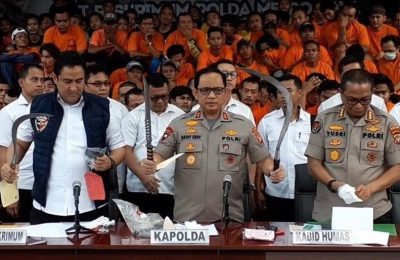Kapolda Metro Jaya Irjen Pol. Gatot Eddy Pramono saat memaparkan hasil Operasi Sikat Jaya 2019 yang berlangsung pada 12-26  November 2019. (Ist)