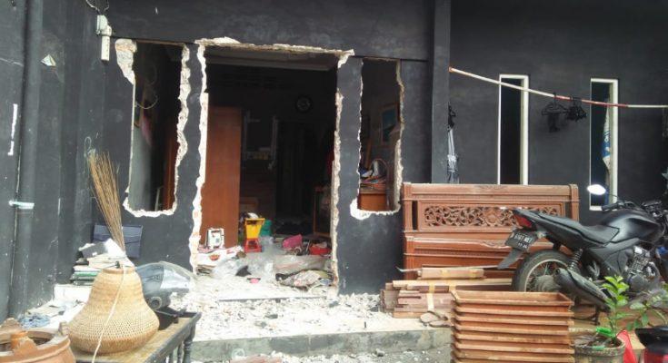 Salah satu rumah warga  di asrama polisi (Aspol) Menteng Jakarta Pusat yang dilosongkan Polda Metro Jaya. (foto.Ist)