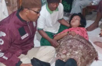 Korban saat ditemukan pingsan di lokasi kejadian. (foto:fat)