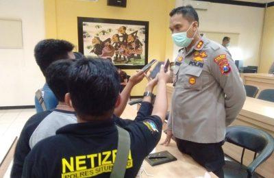 Kapolres AKBP Sugandi, usai melakukan pertemuan dengan Forkopimda Situbondo. (foto:fat)