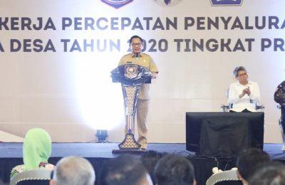 Mendagri Tito Karnavian saat Rapat Kerja Percepatan Penyaluran dan Pengelolaan Dana Desa Tahun 2020 di Provinsi Jawa Barat di Sentul International Convention Center, Sentul, Bogor, Jawa Barat, Senin (02/03/2020). (foto:ist)