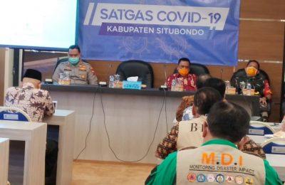 Wabup Situbondo Yoyok Mulyadi, saat meminpin percepatan penanganan Covid 19. (foto:fat)