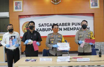 Tim UPP Satgas Saber Pungli Kabupaten Mempawah, berhasil mengungkap dugaan tindak pidana korupsi Dana bantuan progres Lanjut usia. (foto:das)