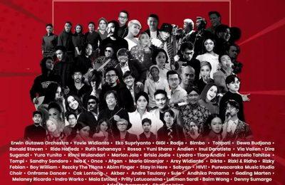 Puluhan artis akan tampil di Konser Solidaritas Bersama Jaga Indonesia yang akan disiarkan secara serentak di enam stasiun televisi nasional pada 16 Mei 2020. (Ist)