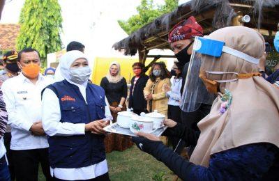Gubernur Jatim Khofifah Indar Parawansa meresmikan sebanyak 30 Kampung Tangguh di Kota Probolinggo, Rabu (17/6/2020). (Ist)