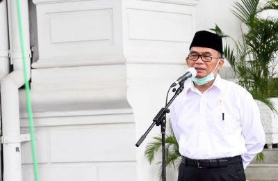 Menteri Koordinator Bidang Pembangunan Manusia dan Kebudayaan (PMK) Muhadjir Effendy memberi keterangan pers usai bertemu Presiden Joko Widodo di Istana Merdeka Jakarta, Senin (22/6/2020). (Ist)