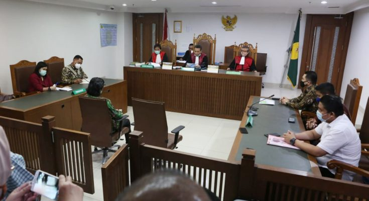 suasana sidang PKPU PT KCN di Pengadilan Niaga pada Pengadilan Negeri Jakarta Pusat. (ist)