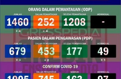 Sebaran Covid-19 Kabupaten Gresik.