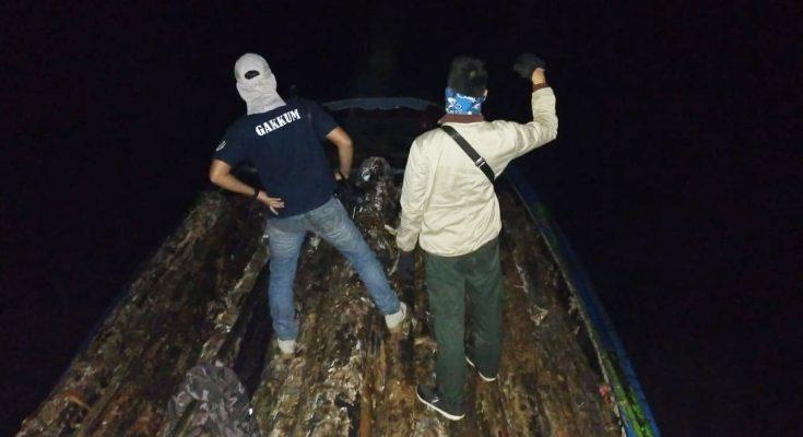 Barang bukti Illegal logging yang berhasil diamankan Tim Operasi Pengamanan Hutan Gakkum KLHK wilayah Sumatera bersama Polda Sumatera Selatan, BKSDA Sumatera Selatan dan Dishut Provinsi Sumatera Selatan. (foto:ist)