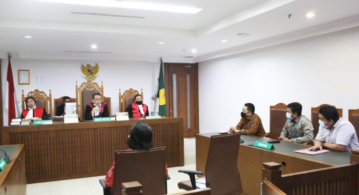 Suasana sidang PKPU PT KCN di Pengadipan Niaga pada Pengadilan Negeri Jakarta Pusat.