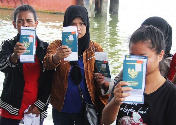 ilustrasi Pekerja Migran Indonesia. (foto:ist).