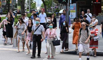 Ilustrasi, Singapura memperpanjang pembatasan sosial untuk menekan penyebaran Covid-19. (foto:AFP)